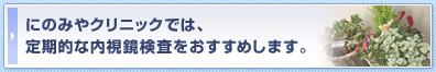 にのみやクリニックでは、定期的な内視鏡検査をおすすめします。 内視鏡検査 内科 岐阜県
